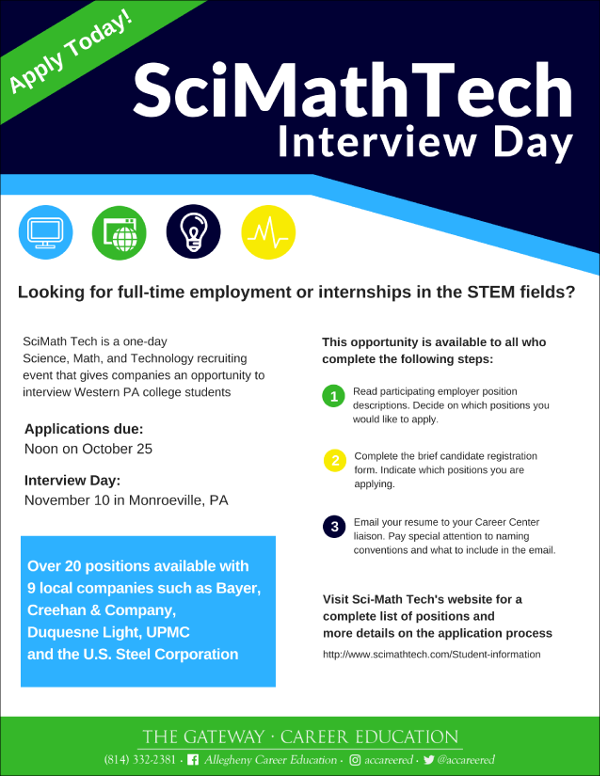 SciMathTech Interview Day