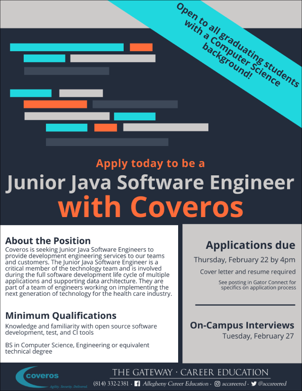 Software Engineer Position At Coveros